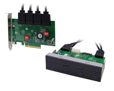 Octad Channel 8-port (1-port x 8) USB 3.0 to PCI Express x8 Gen 2 Host Card